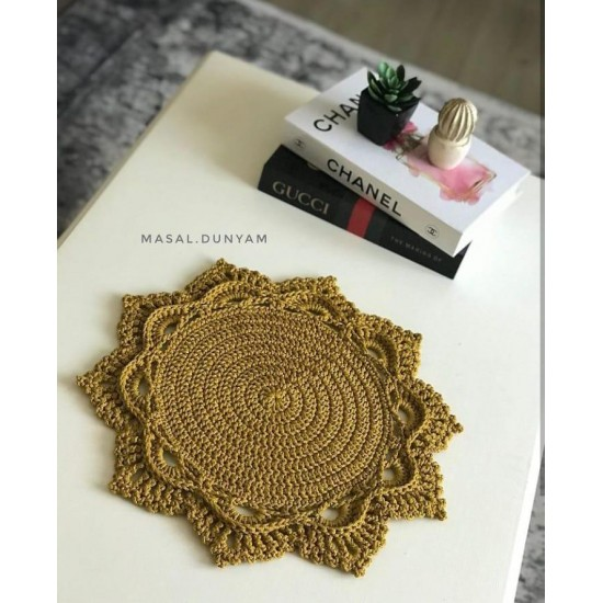 Gold Polyester Makrome İp