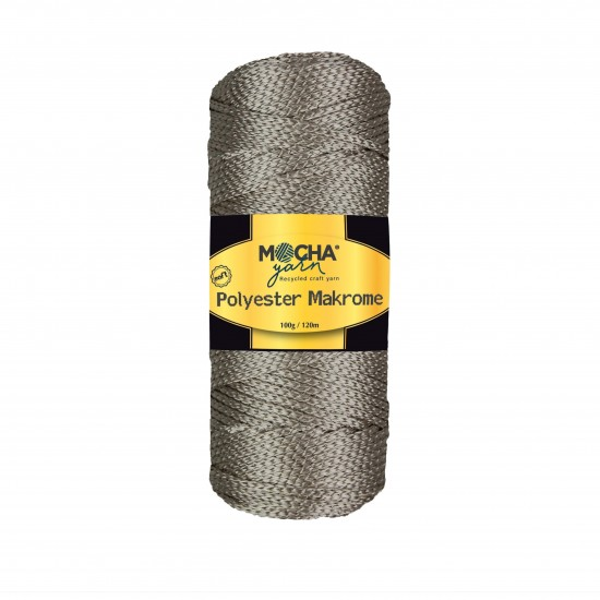 Silver Polyester Makrome İp